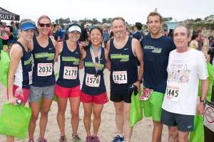 SCE after the Surfer's Path Half Marathon.  Photo courtesy of Nancy Z.